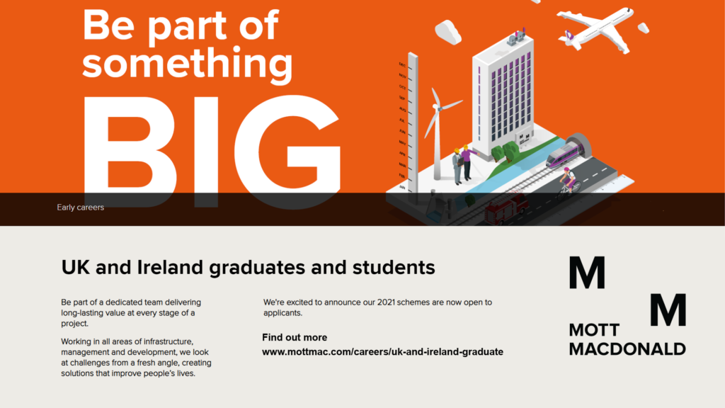 Mott MacDonald careers video link
